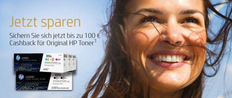 Jetzt sparen: HP Toner Cashback