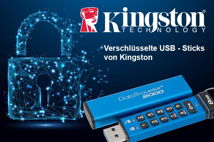 Datenschutzgrundverordnung – Verschlüsselte USB – Sticks von Kingston