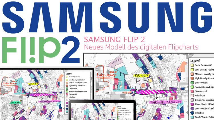 SAMSUNG Flip 2 – Neues Modell des digitalen Flipcharts